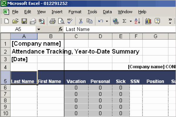 13 attendance Tracking Templates Excel Pdf formats