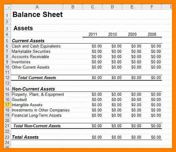 13 Balance Sheet Templates for Small Business