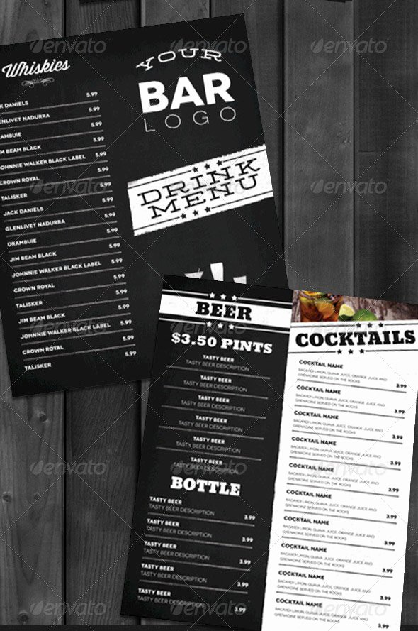 13 Bar Menu Template Bar Menu Templates Free Bar