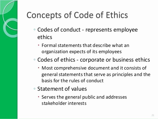 13 Best Codes Of Ethics Conduct Images On Pinterest