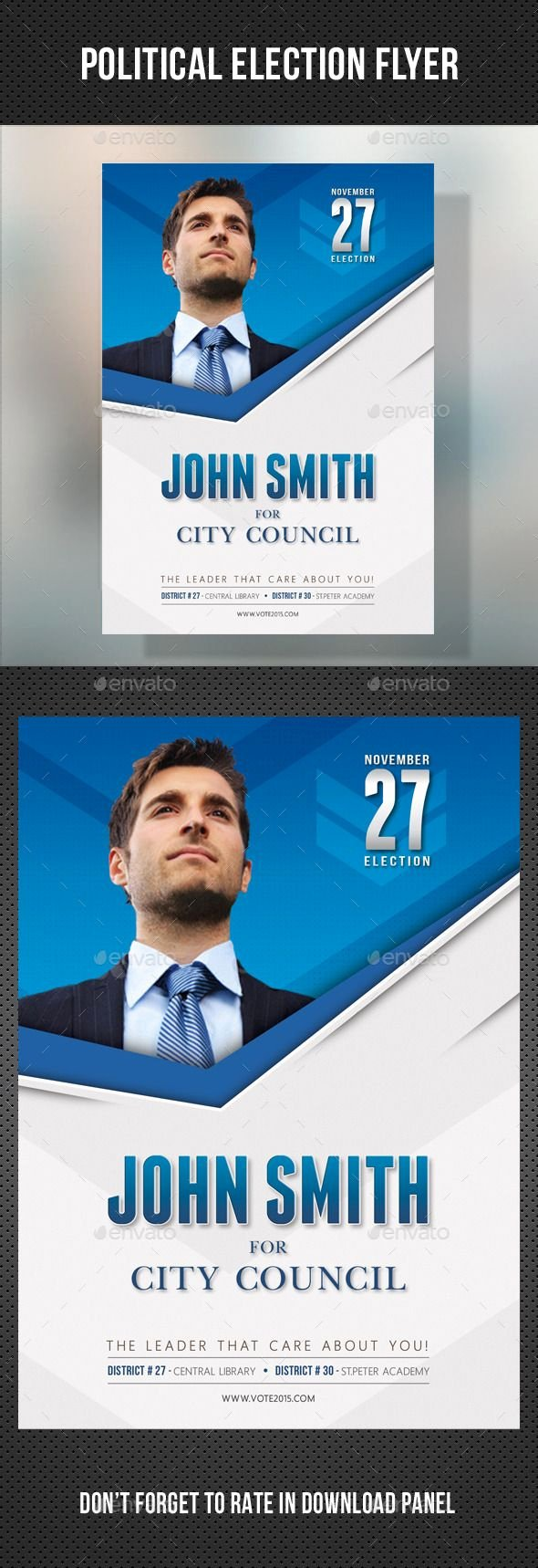 13 Best Free Political Campaign Flyer Templates Images On