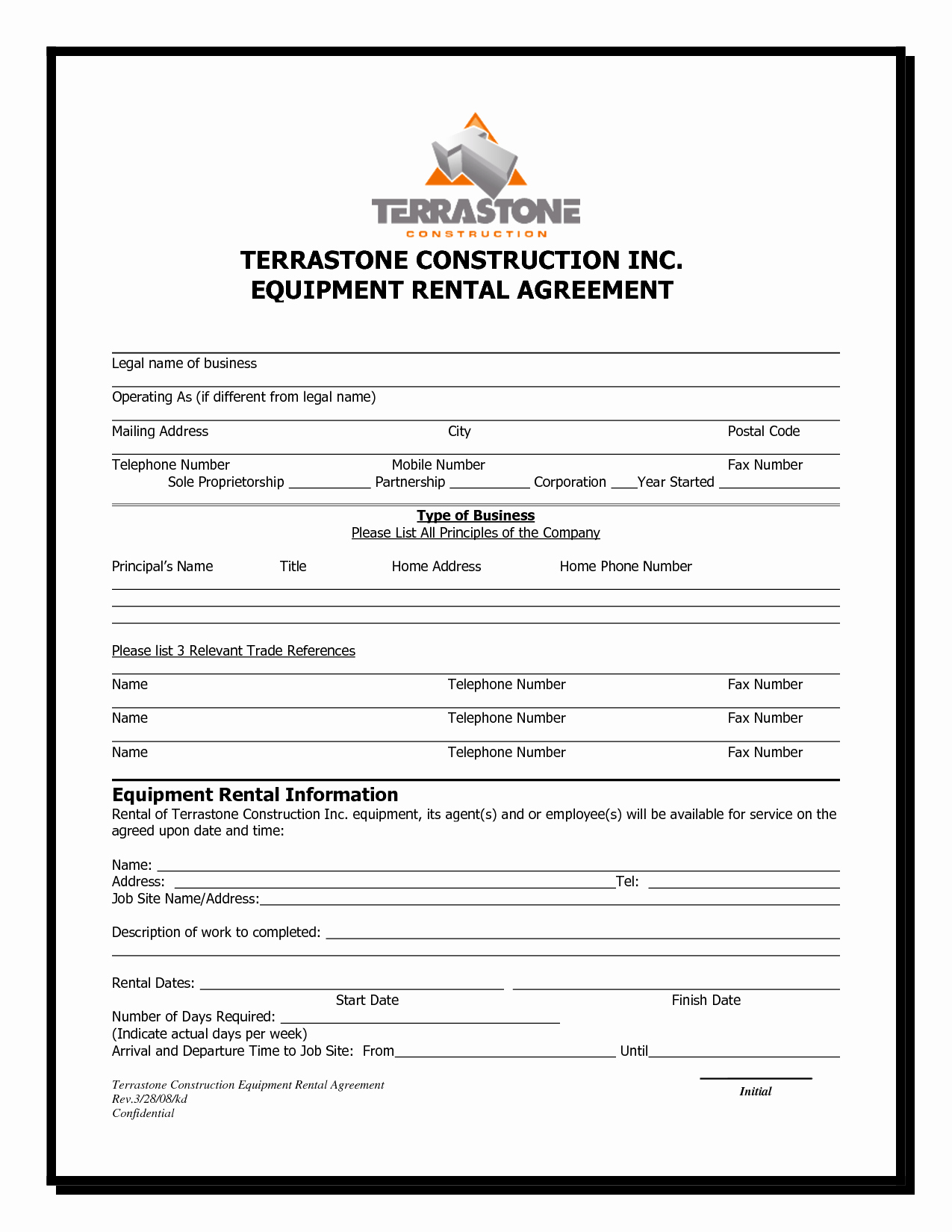 7 Equipment Lease Agreement Templates Samples Examples