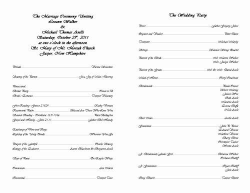 13 Best S Of Free Printable Wedding Bulletins
