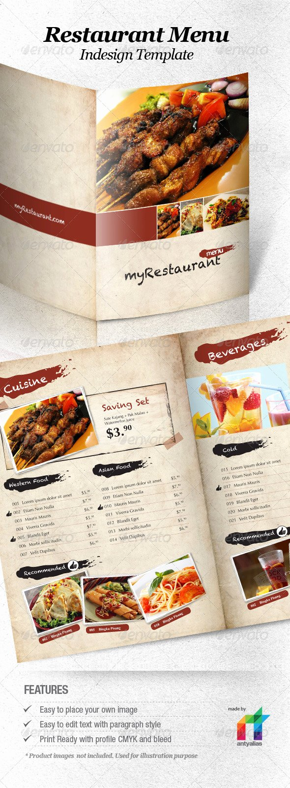 13 Best Selling Menu Templates for Restaurants Premiumcoding