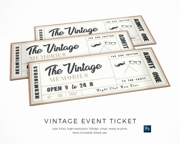 13 Best Vintage Ticket Template Davidklinghoffer