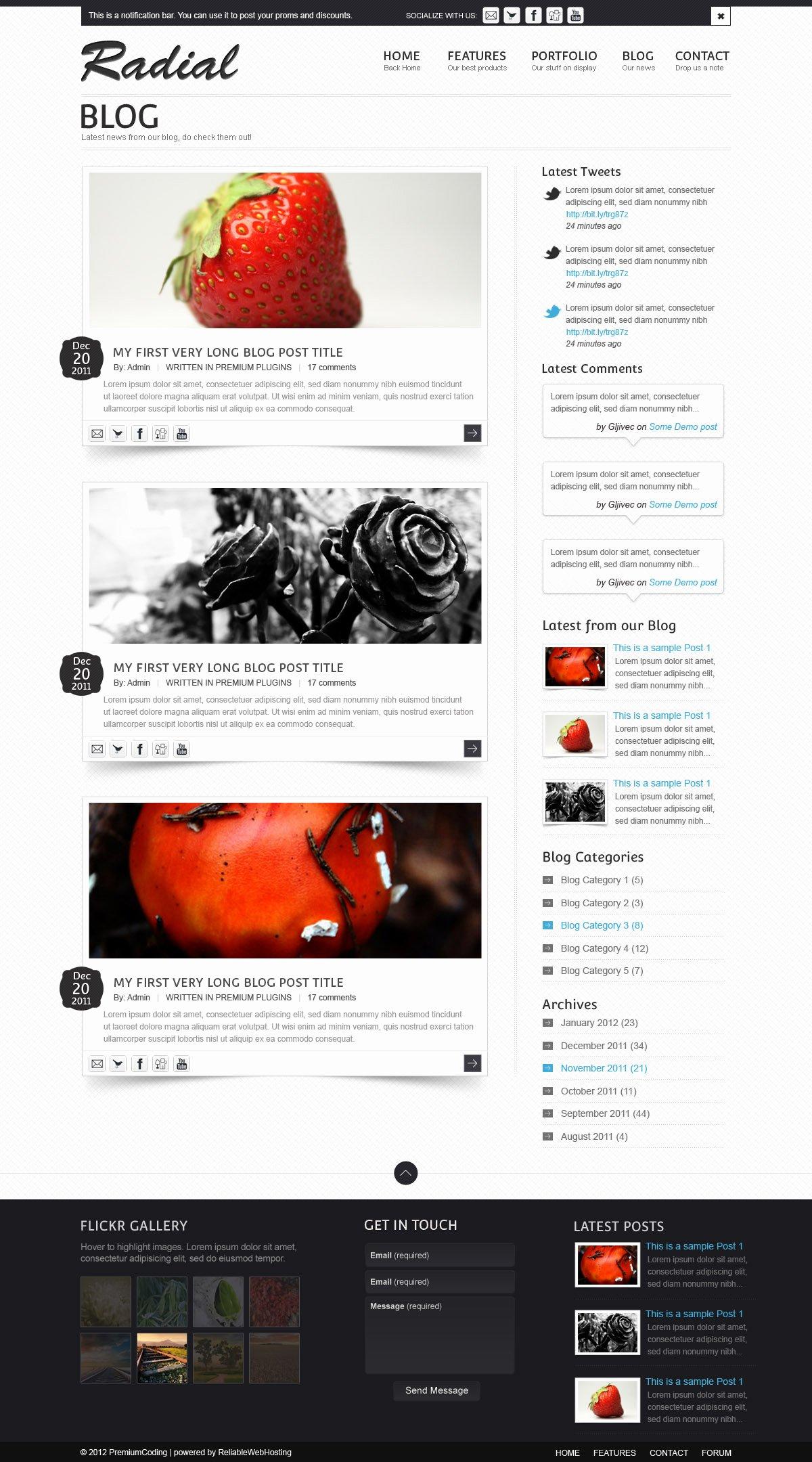 13 Blog Design Psd Free Shop Psd Templates