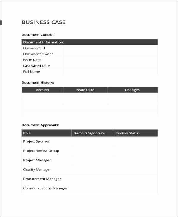 13 Business Case Templates Pdf Doc