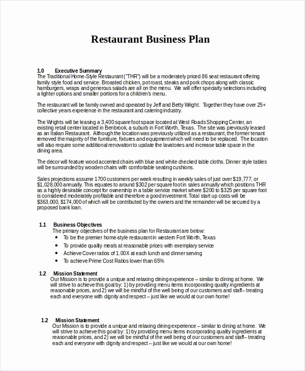 sample business plan templates