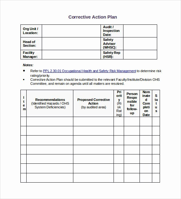 13 Corrective Action Plan Templates to Download for Free