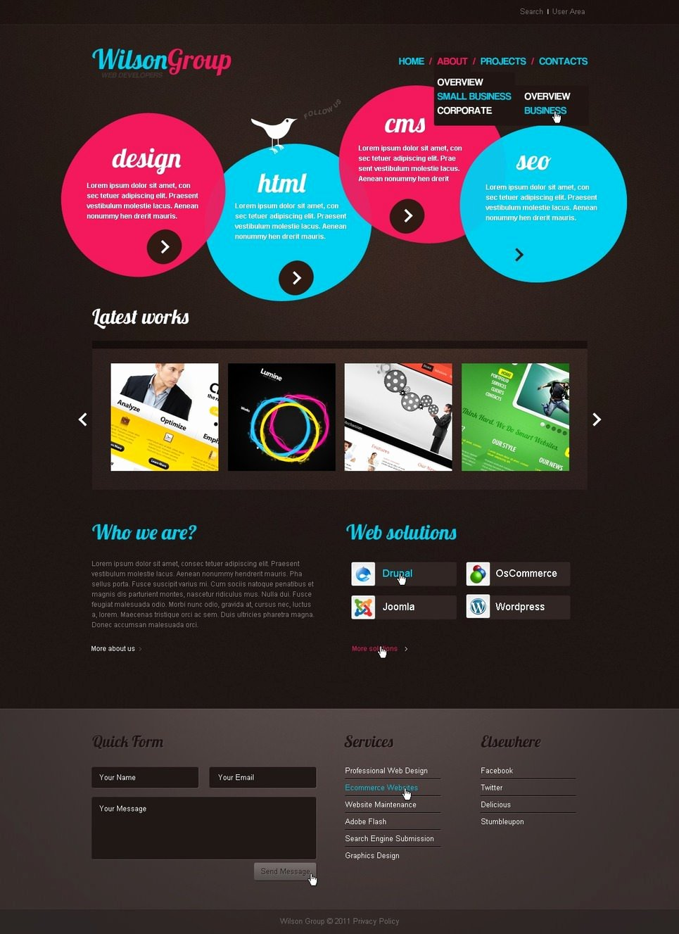 13 Creative Website Templates for Designers