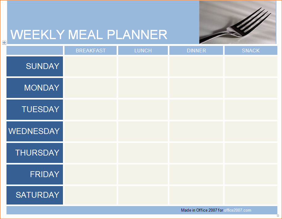 13 Daily Meal Planner Template
