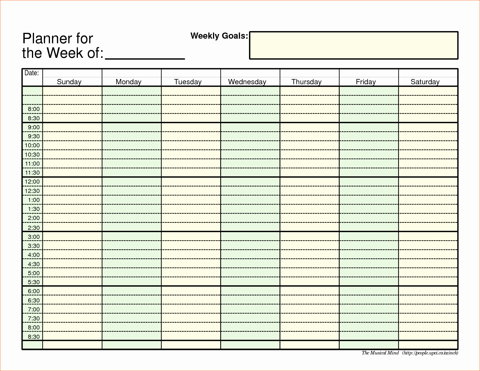 13 Daily Planner Template