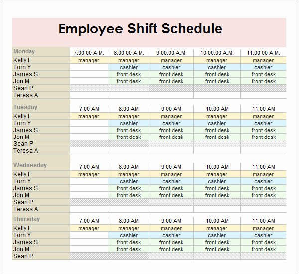 13 Employee Schedule Samples