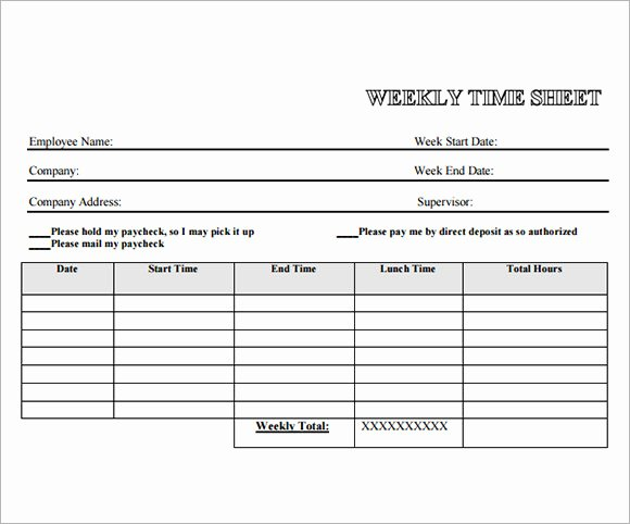 13 Employee Timesheet Samples