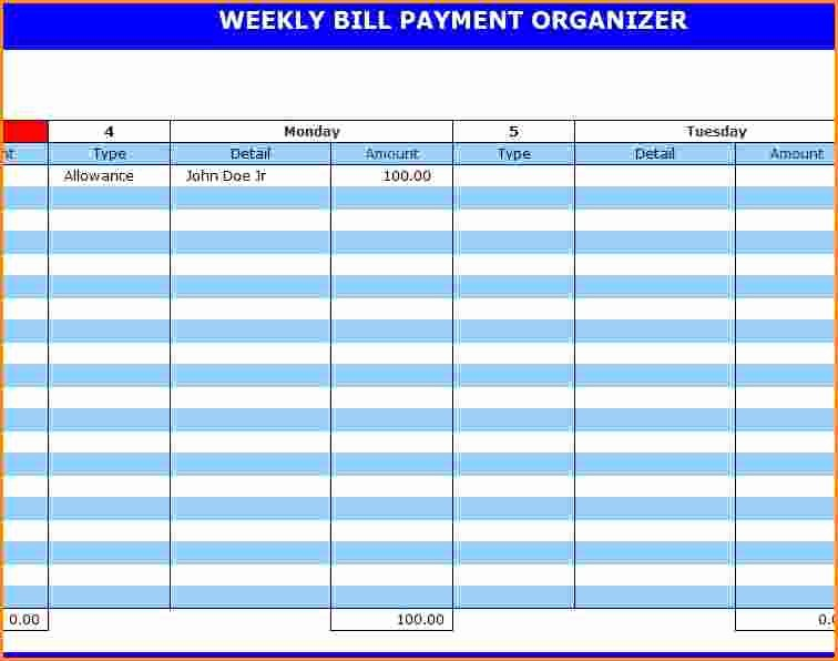 13 Excel Bill Template