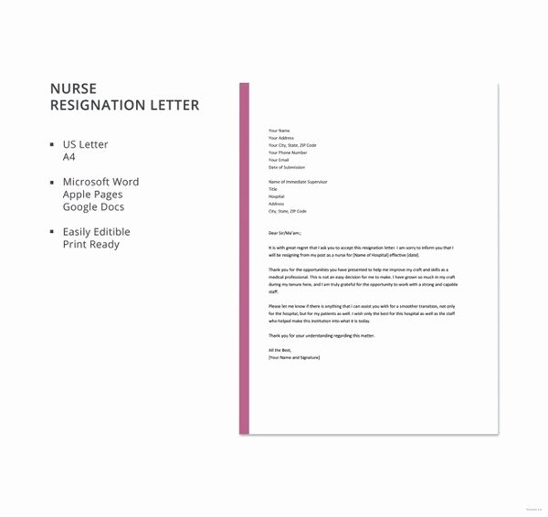 13 formal Resignation Letter Template Free Word Excel