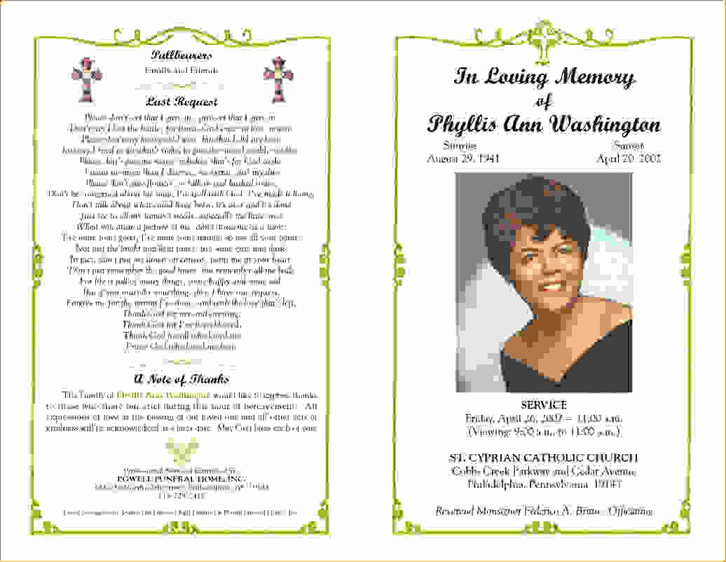 13 Funeral Program Templatesagenda Template Sample