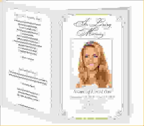 13 Funeral Programs Templateagenda Template Sample