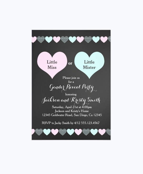 13 Gender Reveal Party Invitations Designs Templates