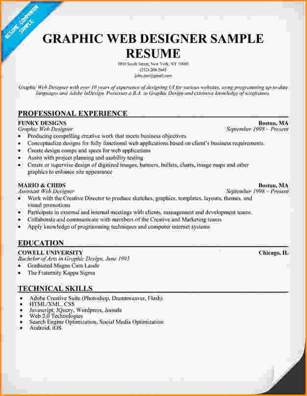 13 Graphic Design Resume Example