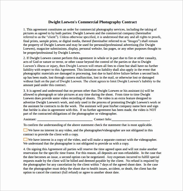 13 Graphy Contract Templates – Pdf Word Pages
