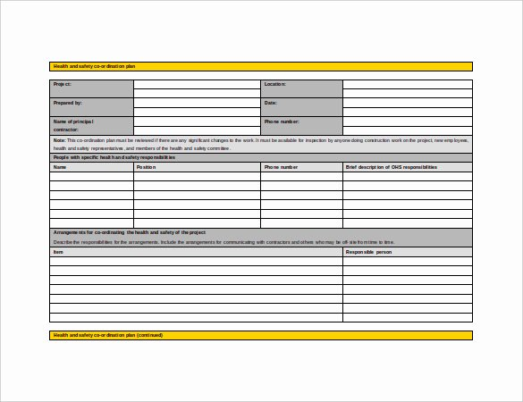 13 Health and Safety Plan Templates Free Sample