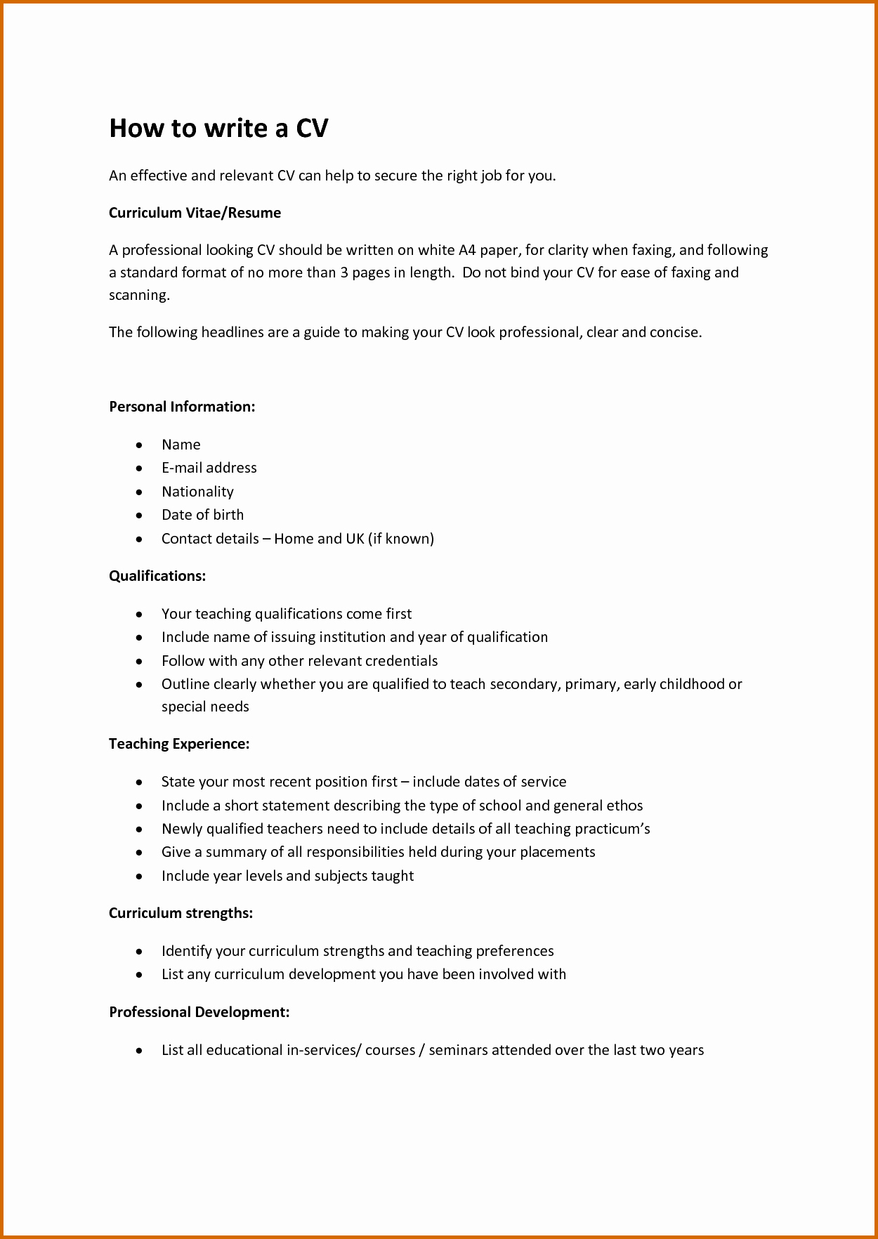 13 How to Write A Cv for Job Application