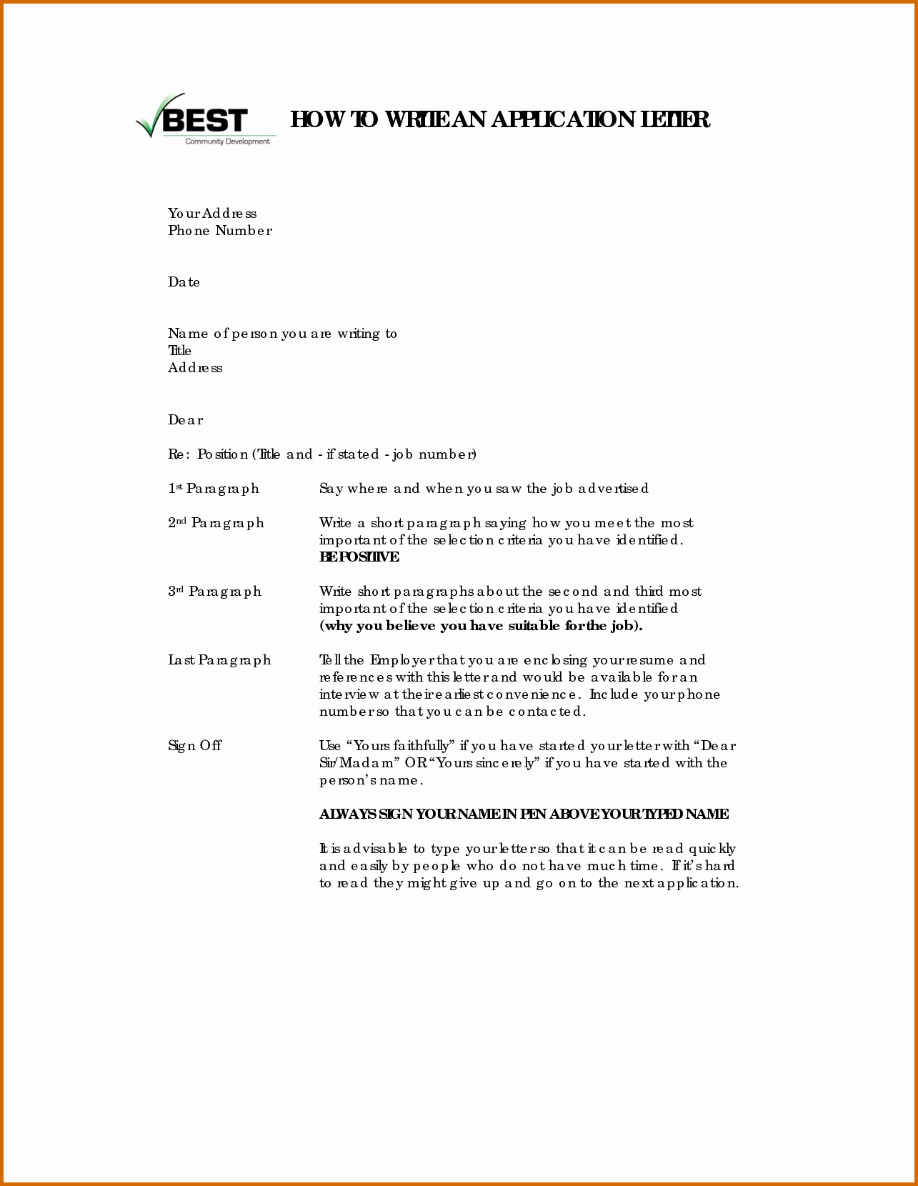 13 How to Write Applications Letter