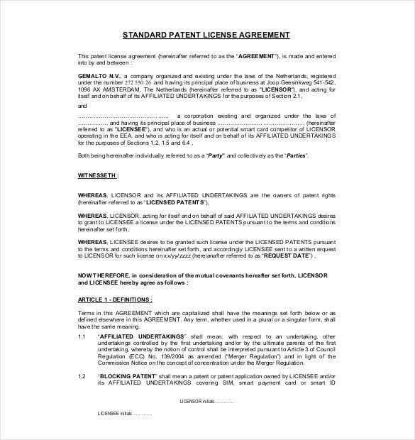 13 License Agreement Templates – Free Sample Example