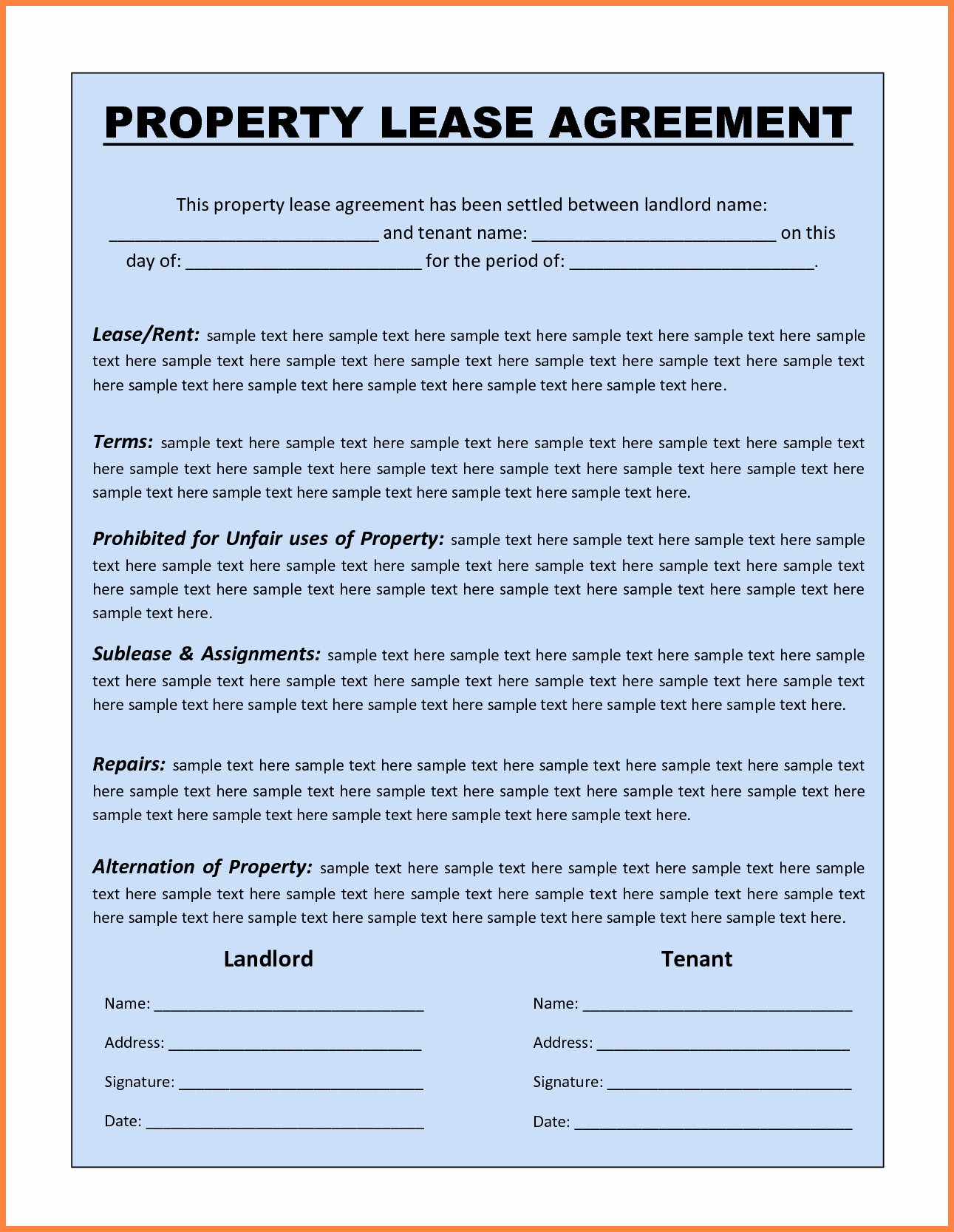 13 Mercial Lease Agreement Template Word