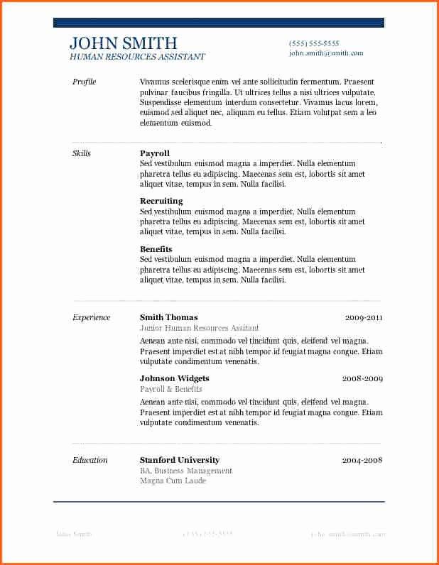 13 Microsoft Word 2007 Resume Templates Bud Template