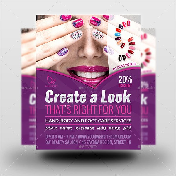 13 Nail Salon Flyer Templates Free & Premium Download