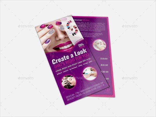 13 Nail Salon Flyer Templates Free & Premium Download