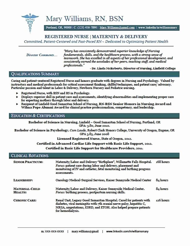 13 New Graduate Nursing Resume Sample Resumes