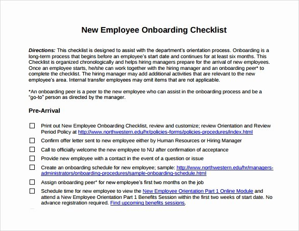 13 New Hire Checklist Samples