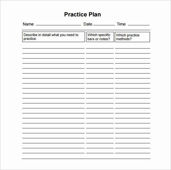 13 Practice Schedule Templates Word Excel Pdf
