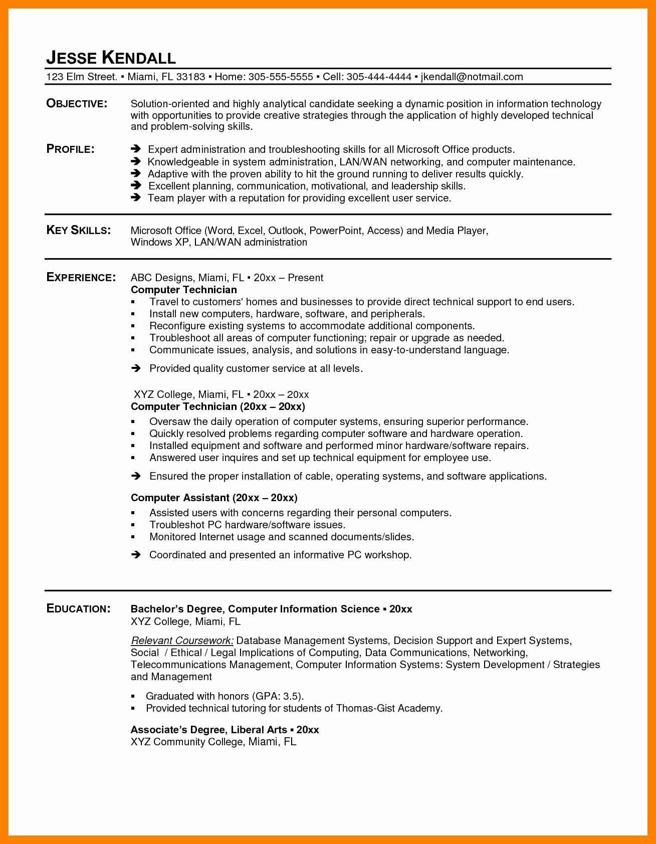 13 Puter Repair Resume