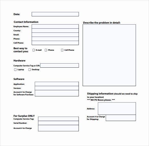 13 Puter Service Request form Templates to Download