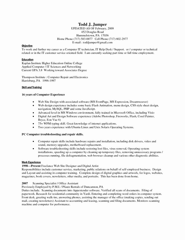 13 Puter Skills Resume Samplebusinessresume