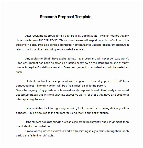 13 Research Proposal Templates Doc Pdf Excel