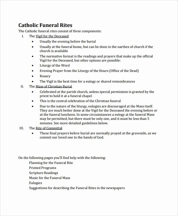 catholic funeral program
