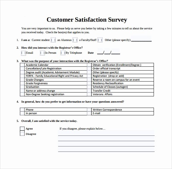 13 Sample Customer Satisfaction Survey Templates to