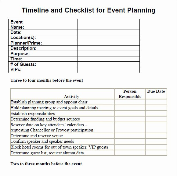 13 Sample event Planning Checklist Templates