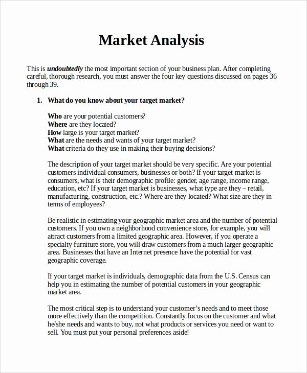 13 Sample Market Analysis – Pdf Doc