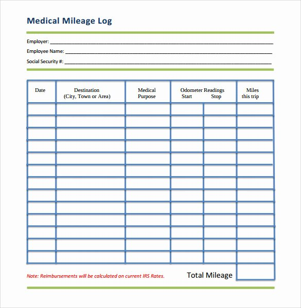 13 Sample Mileage Log Templates to Download