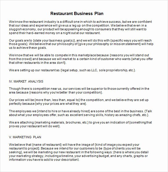 13 Sample Restaurant Business Plan Templates to Download