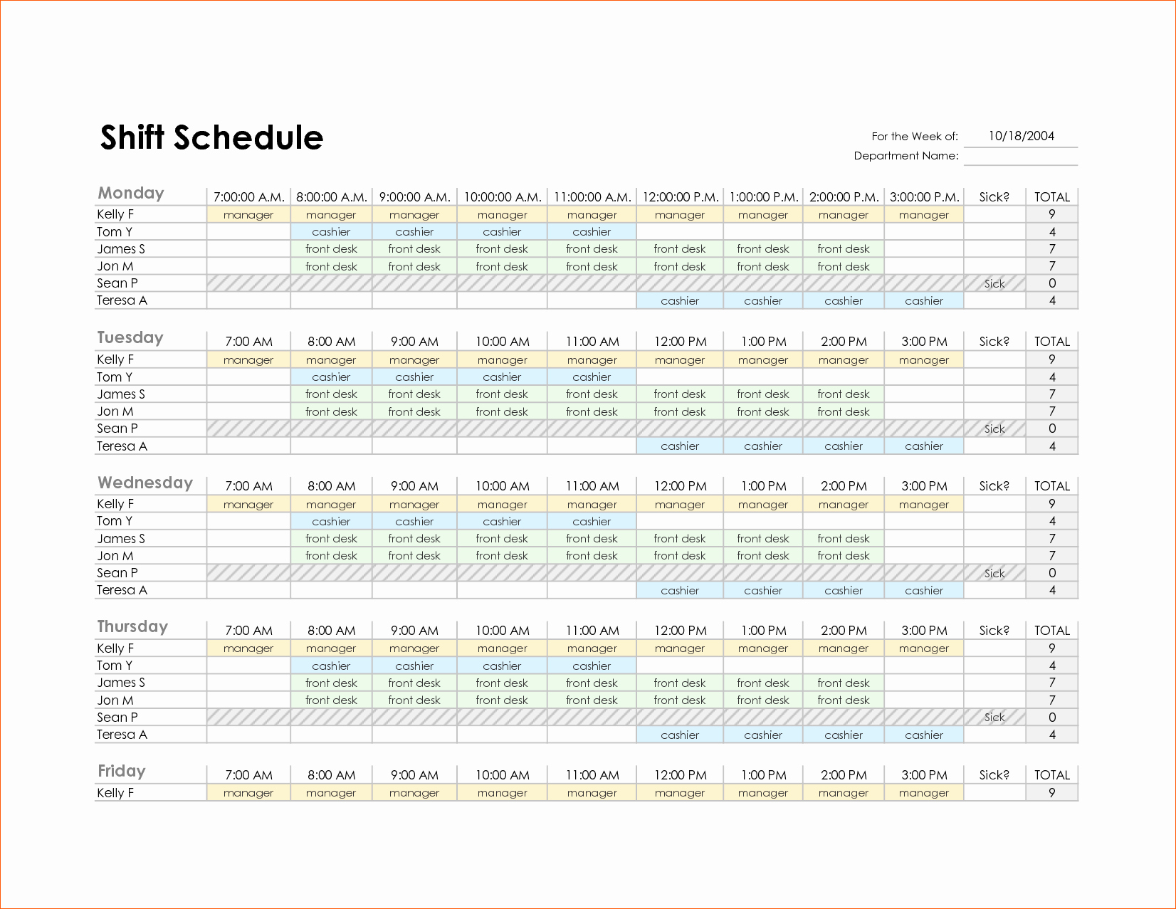 13 Schedule Template Excel