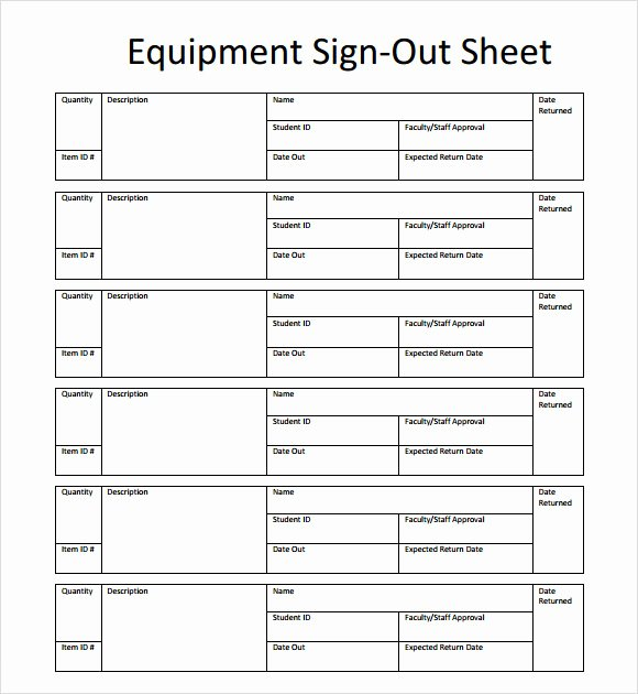 13 Sign Out Sheet Templates – Pdf Word Excel