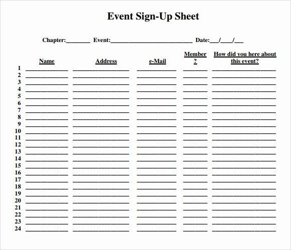 13 Sign Up Sheet Samples