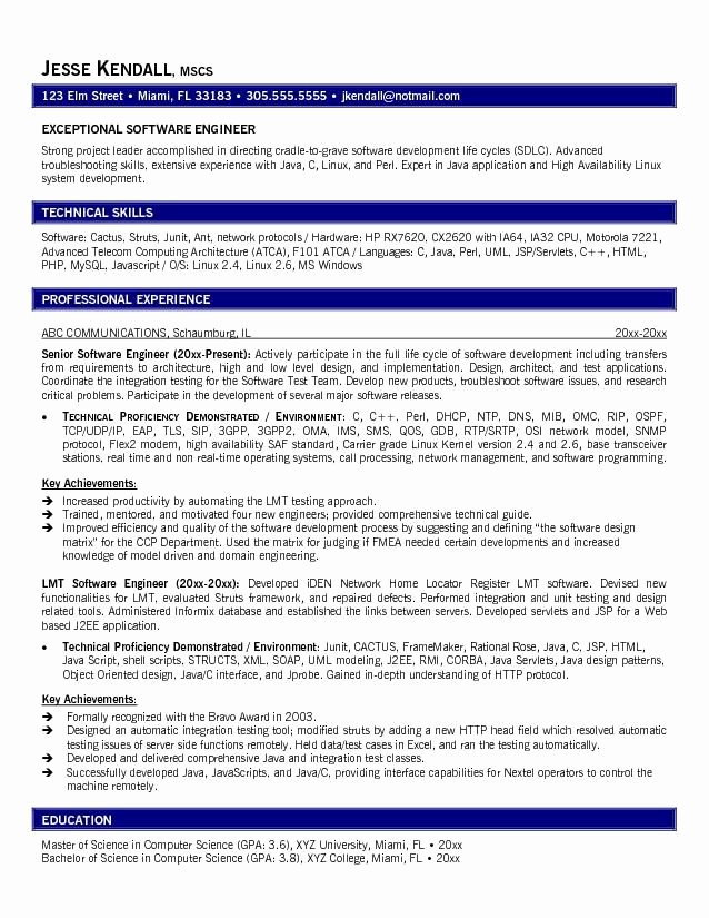13 software Engineer Resume Samples